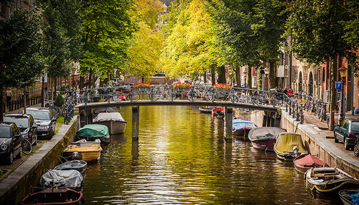 Amsterdams vackra kanaler